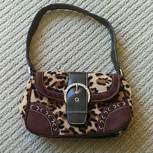 Handbags - Cheetah print early 2000s bling mini bag